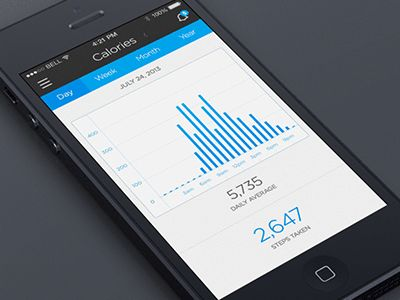 Dribbble - Fitness Tracking (iOS 7) by Creativedash