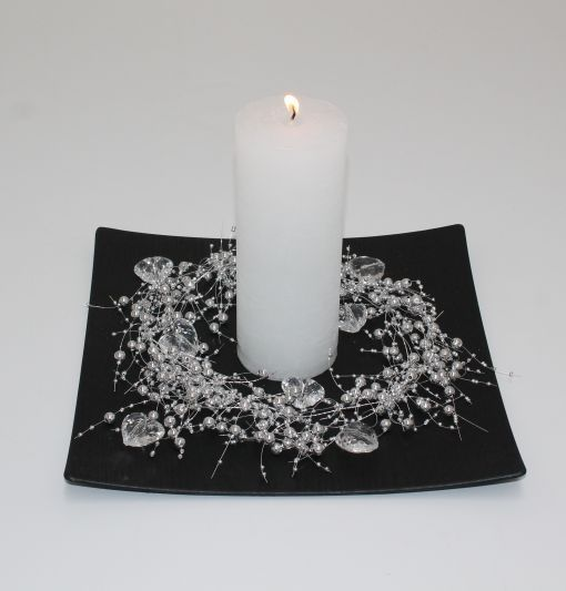 valentin sort med sølv