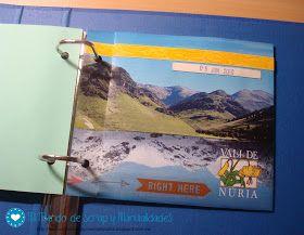 Mi Mundo de Scrap y Manualidades: ♥ El Proyecto Mamut - Álbum scrap para guardar CD's o DVD's con fotos (La Vall de Núria)