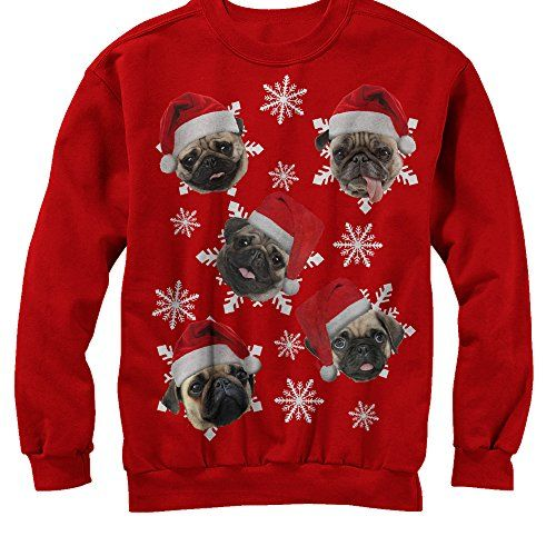 ugly pug sweaters lost gods christmas pug snowflakes mens s graphic 190
