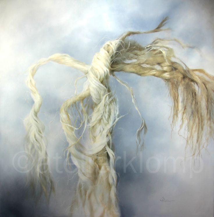 'knoop'. olieverf op doek, 100x100 cm