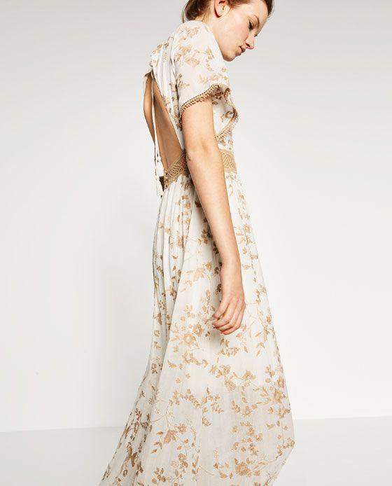 Vestidos largos espalda descubierta zara