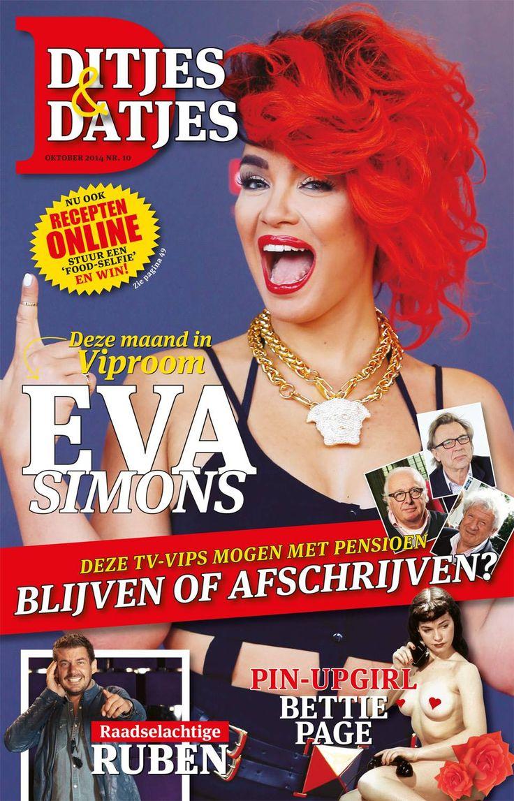 Cover Ditjes & Datjes 10, 2014 met Eva Simons. #DitjesDatjes