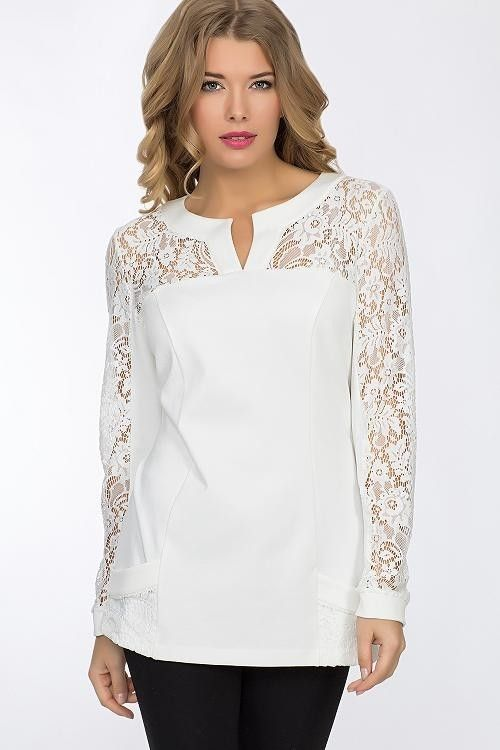 купить блузку белую женскую модную недорого