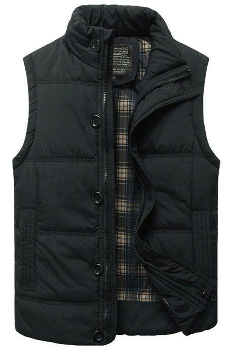 Mens Padded Body Warmer Puffer Vest Active Bodywarmer Gilet with Hood Black, US L(Asian XXXL)