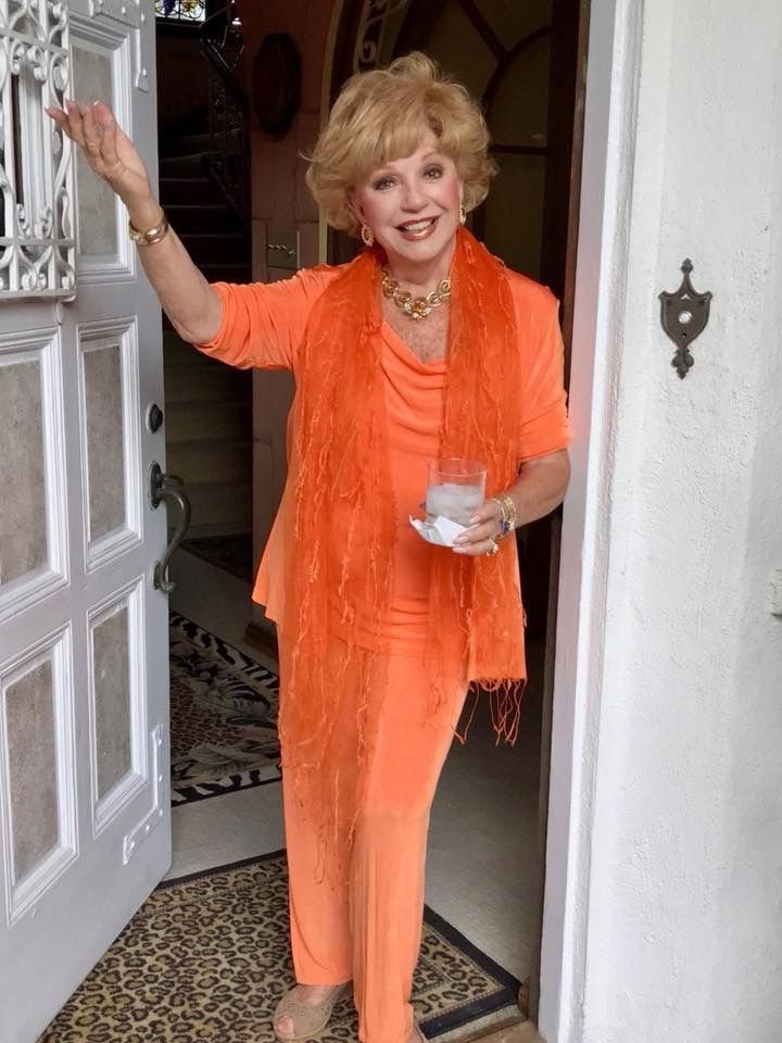 A dear gracious lady from Beverly Hills Ca. who entertains beautifully Mrs. Ruta Lee.