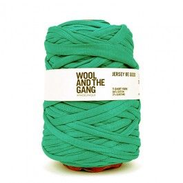 KWA Sustainable knitting: Wool And The Gang Jersey Be Good – Emerald Green #knitwithattitude #MayaKnits