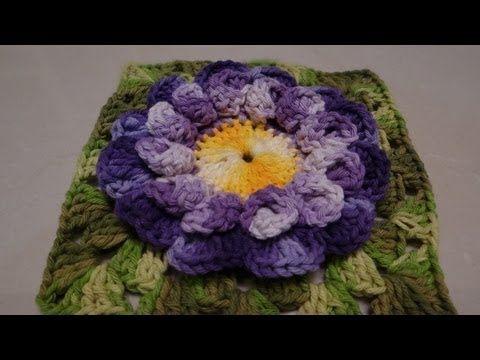 Passo a passo Flor Crochê Nathy Dupla - YouTube