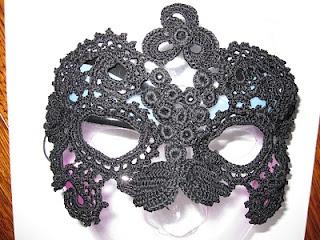 Irish Crochet Mask
