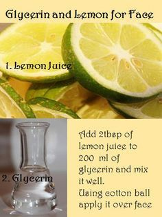 10 Uses of Glycerin and Lemon Juice for Face