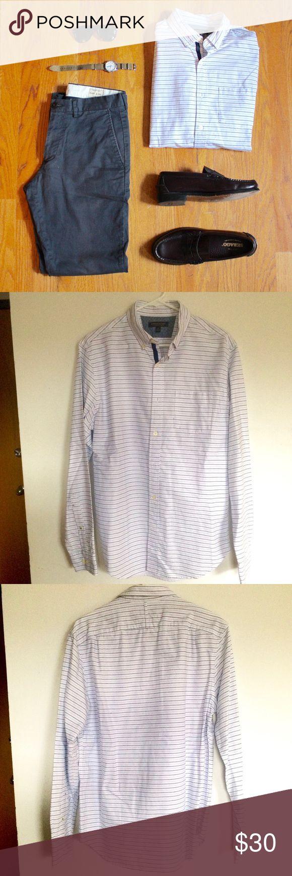 Banana Republic Striped Oxford Slim Fit Shirt Blue and white striped Banana Republic Shirts Dress Shirts