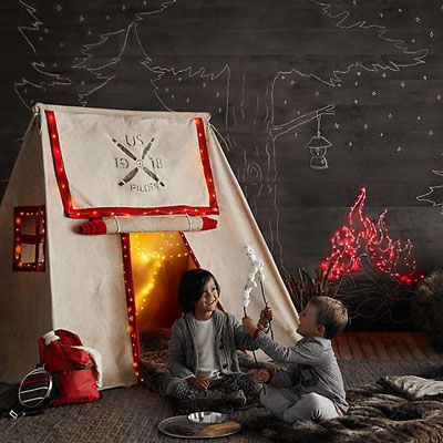 How to Throw an Indoor Camping Party