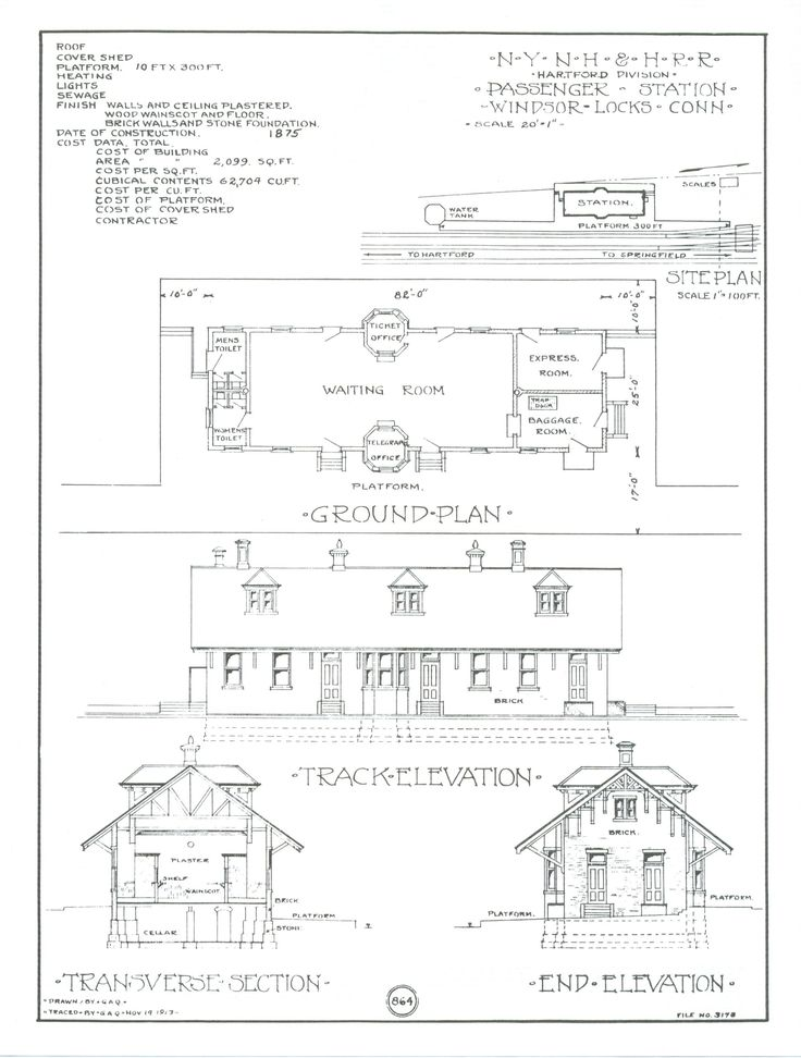 The 426 best trains and railroad stations images on pinterest train depot blueprints windsor locks preservation association history of the train station malvernweather Gallery