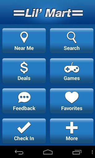 This Lil Mart App was created by the geniuses that brought you the Gasbuddy App to find the cheapest gas prices on the go.<p>COUPON ALERTS!<br>Sign up to receive direct alerts about exclusive promotions and coupons available at Lil Mart stores via push notification.<p>CURRENT GAS PRICES<br>Receive the most current gas prices for any Lil Mart location.<p>FIND A STORE AND GET DIRECTIONS<br>Find the nearest Lil Mart locations and get directions from your current GPS location or search by city…