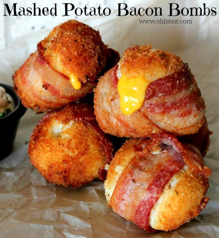 Mashed Potato Bacon Bombs