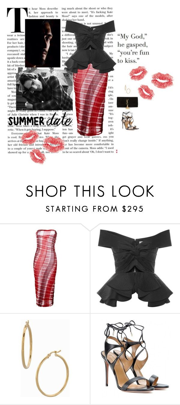 """xoxo Mats Hummels"" by mrs-snow ❤ liked on Polyvore featuring STELLA McCARTNEY, Johanna Ortiz, Bony Levy, Aquazzura, Yves Saint Laurent, chic, love and summerdate"