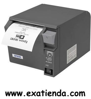 Ya disponible Impresora Epson ticket tm t70 +fuente ps180 USB/negra   (por sólo 233.95 € IVA incluído):   -INTERFACE: USB. -Tecnología: Impresora termica -Fuente: 9x17 / 12x24. -Columnas: 42/56. -Tamaño carácter: 0.99(W) x 2.4(H) / 1.41(W) x 3.38(H). -Tipos fuentes: 95 Alfanuméricos, 48 Internacionales, 128 x 11 gráficos. -Códigos de barras: UPC-A, UPC-E, EAN8, EAN13, CODE39, CODE93, CODE128, ITF, CODABAR -2D: PDF417, QRCode. -Velocidad de impresión: 170 mm/seg. (P