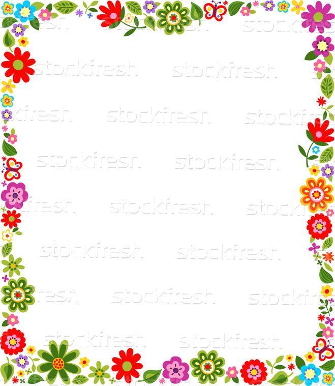 Modèle · frontière · cadre · fleur · printemps · bébé - illustration vectorielle © Sau Kit Lai (creative_stock) (#2602695) | Stockfresh