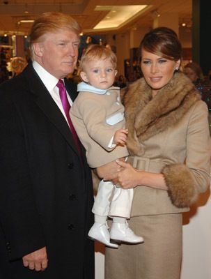 Donald Trump and baby boy Barron William Trump