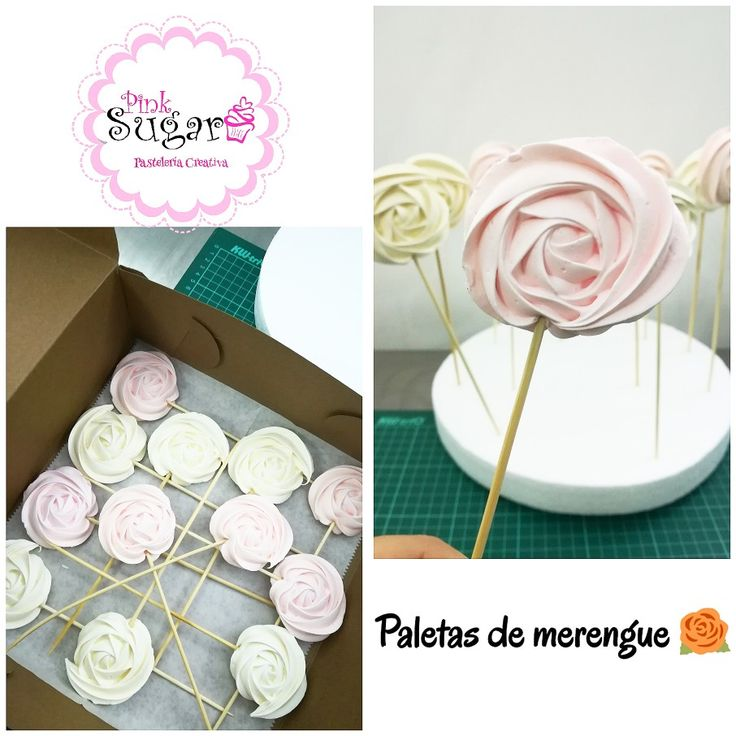Paleta rosas de merengue merengue pop