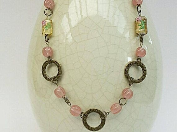 Hey, I found this really awesome Etsy listing at https://www.etsy.com/au/listing/526219836/long-beaded-pink-chain-necklace-pink