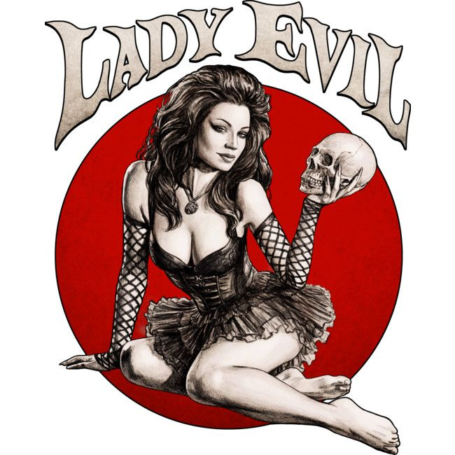 Lady Evil is a Sticker designed by moutchy to illustrate your life and is available at Design By Humans