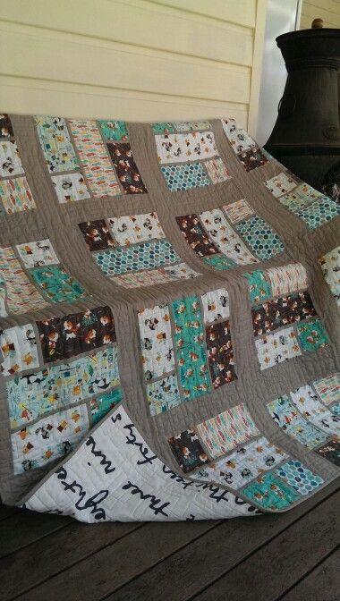Noahs 2nd birthday quilt