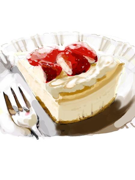 Strawberry cheesecake ~ pixivcafe