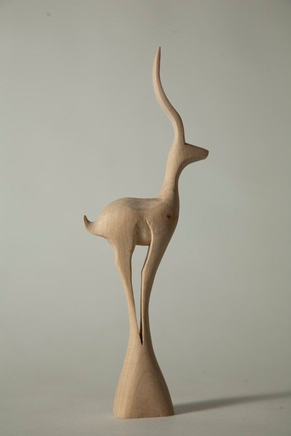 Deer Wood Sculpture 1 by AllegroDecor on Etsy, $85.00 @Perunika Dobreva