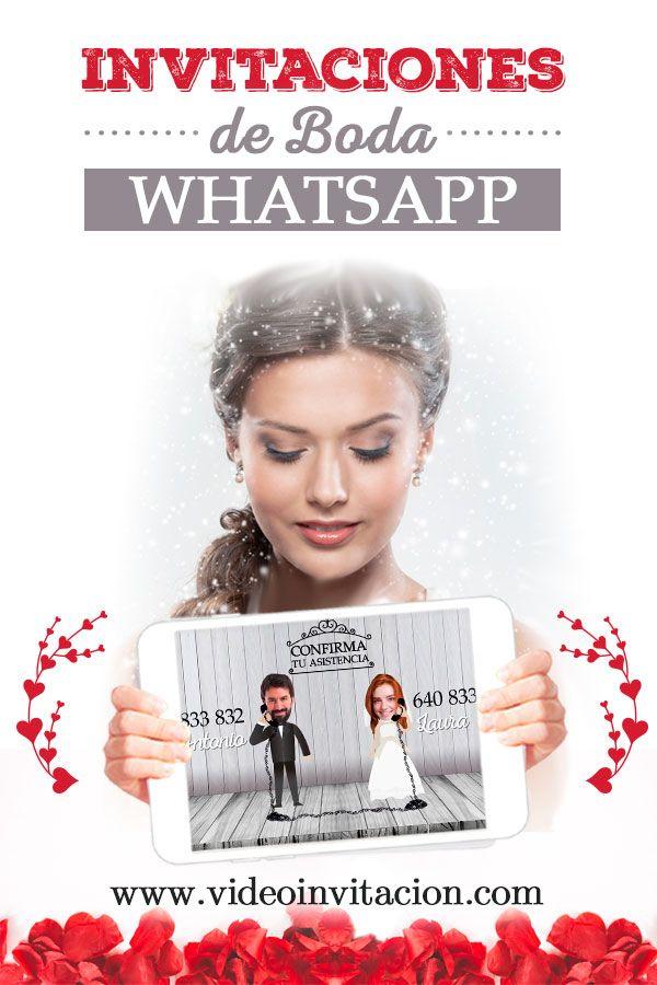 Invitaciones De Boda Whatsapp Ya Están Aquí Soprendentes Y únicas Invitaciones De Boda Digitales Tarjeta De Casamiento Originales Invitacion Boda Originales
