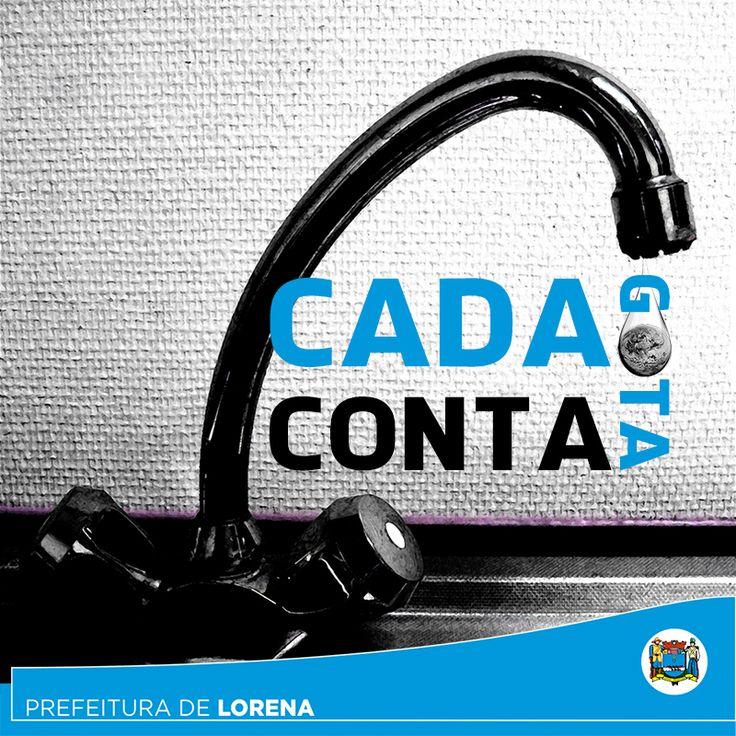 Imagem criada para Facebook, com a intenção de alertar as pessoas sobre a importância da economia de água.