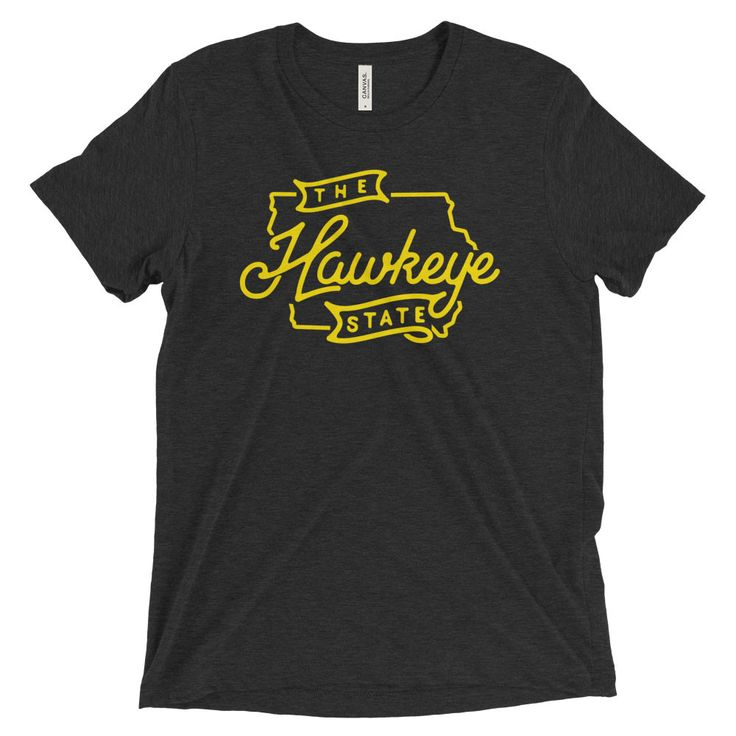 Let everyone know you're from the great state of Iowa with this Hawkeye State triblend t-shirt from Citizen Threads Apparel Co.! Featuring bold graphics, no one will be able to deny your devotion to t