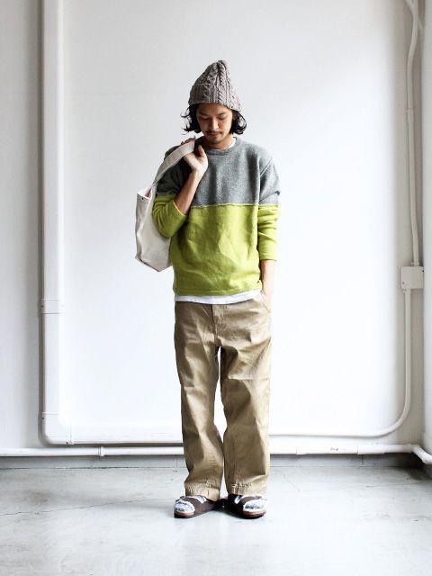 dip Comb Crew Knit Strato