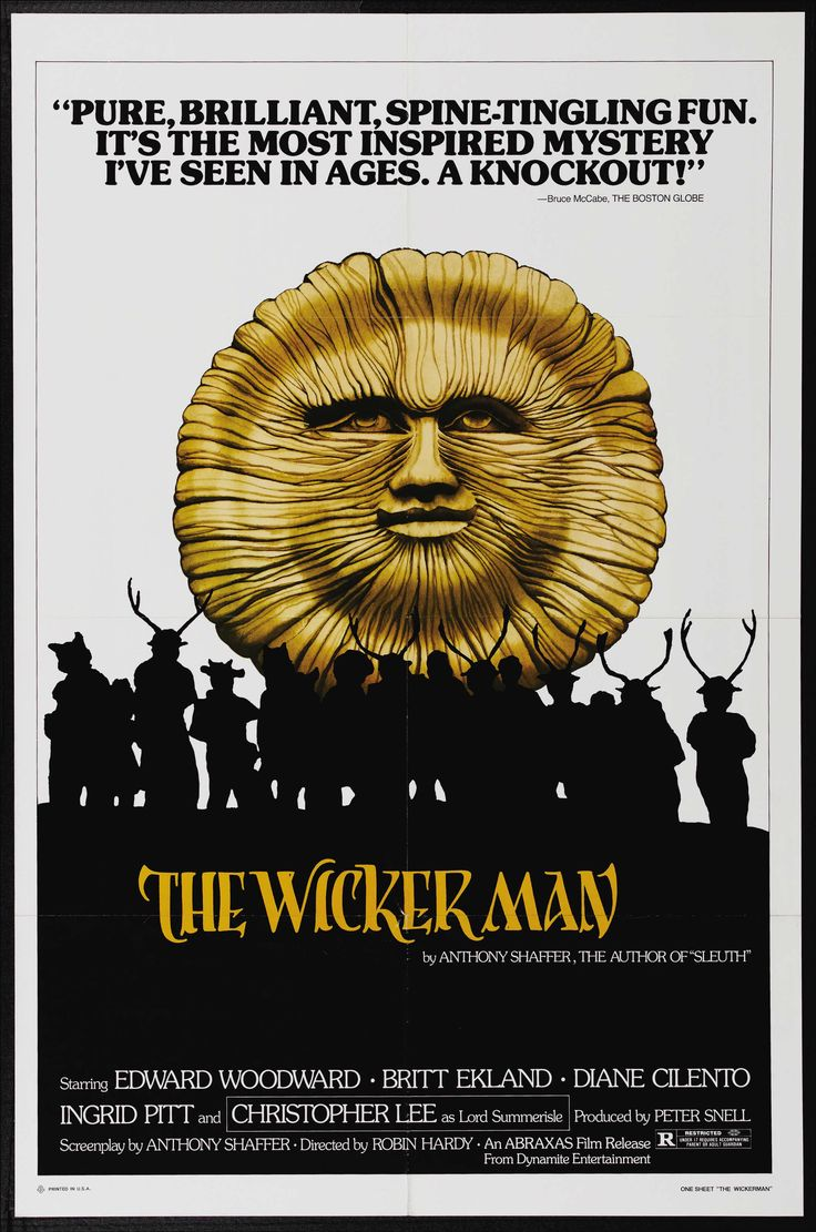"Movie poster from ""The Wicker Man"" (1973)."