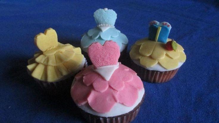 Cupcakes diseño Princesas
