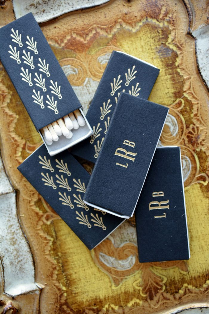 matchbook favors for Florentine wedding invitation suite by Hello Tenfold