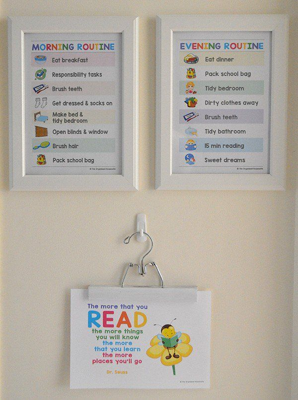 {The Organised Housewife} Morning Routine Chart for kids