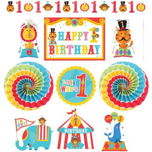 Fisher Price Circus 1st Birthday Room Decorating Kit Party Supply Amscan http://www.amazon.com/dp/B00B9L7SZY/ref=cm_sw_r_pi_dp_dpXrub123YKKF