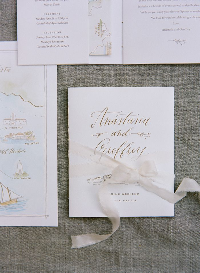 A beautiful invitation suite with a hand drawn map.