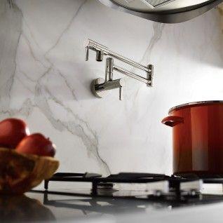 Modern Pot Filler Chrome two-handle kitchen faucet -- S665 -- Moen