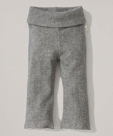 Look at this #zulilyfind! Heather Gray Terry Organic Yoga Pants - Infant, Toddler & Girls #zulilyfinds