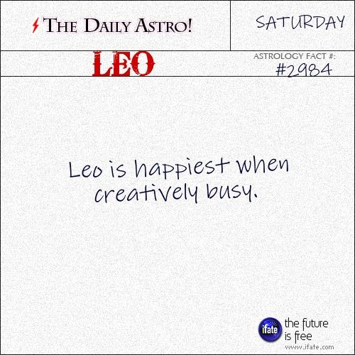 Daily Leo Astrology Fact: Your horoscope for today is waiting for you, Leo. Visit iFate.com today!