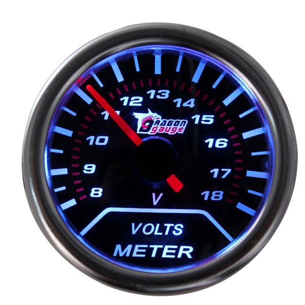 2 Inches 52mm Universal Digital LED 8-18V Car Auto Volt Voltmeter Voltage Gauge - US$14.17
