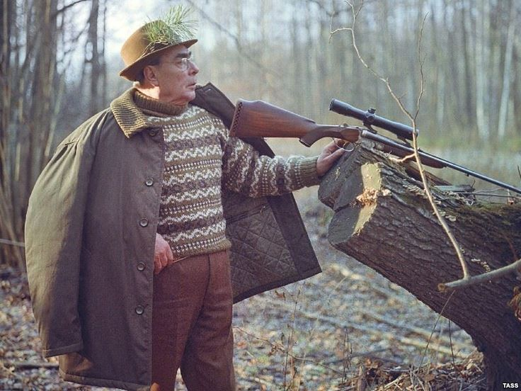 Brezhnev hunting in Ukraine, 1973