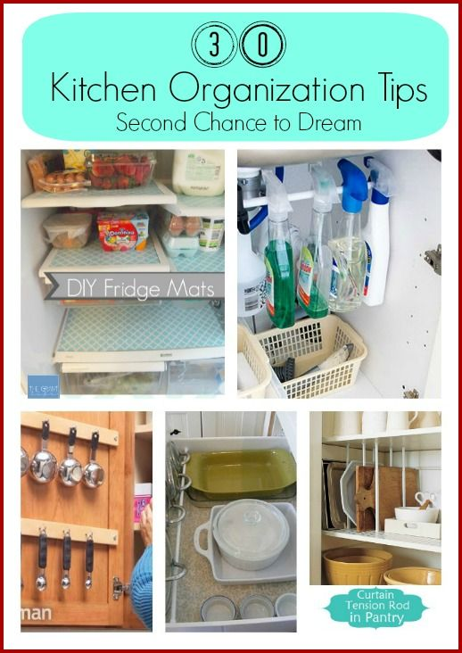 I'm back today with some tips on organizing your kitchen.  Like I said in my 25 Bathroom Organization Tips  my home is in desperate need of some de-cluttering and organization.  I hope to implement many of these ideas and then share my finished work with you guys.  I hope there are some here that will… Read More »