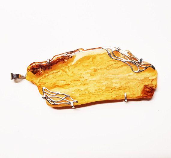 Artistic Baltic Amber Pendant 50g