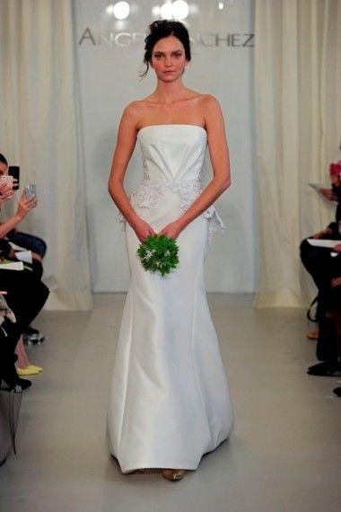 Angel Sanchez | Wedding Trend 2014: 12 Pretty Peplum Style Wedding Dresses | weddingsonline
