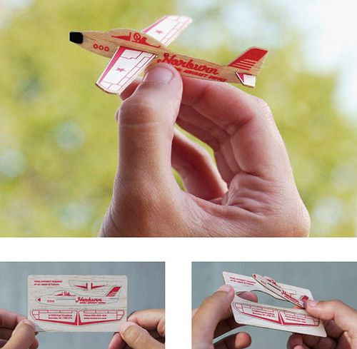 26 best creative alternatives to business cards images on pinterest airplane as business card colourmoves