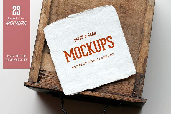 Paper & Card Closeup Mockups  by Nat Caesar Design on @creativemarket