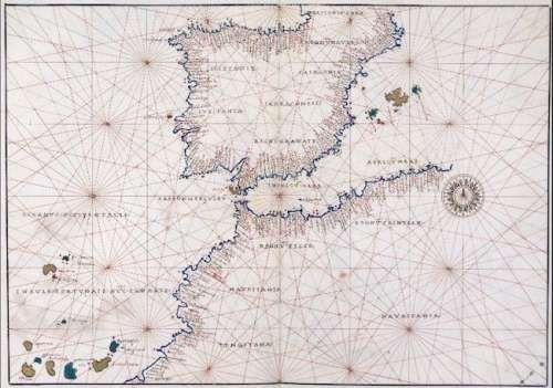 Carta portulana Península Ibérica, Agnese